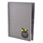 a5 recycled wiro notepad in grey