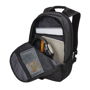 """InTransit 15.6"""" Laptop And Tablet Backpack showing inner compartments"""