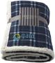 Joan sherpa plaid blanket in navy