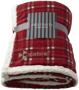 Joan sherpa plaid blanket in red