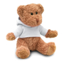 johnny bear with white hooded sweater