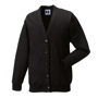 Kids Cardigan in black with set in sleeves and 5 buttons