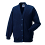 Kids Cardigan in navy with set in sleeves and 5 buttons