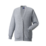Kids Cardigan in grey with set in sleeves and 5 buttons