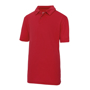 Kids Cool Polo in red with collar and 2 buttons