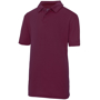 Kids Cool Polo in burgundy with collar and 2 buttons