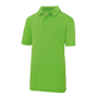 Kids Cool Polo in green with collar and 2 buttons