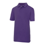 Kids Cool Polo in purple with collar and 2 buttons