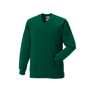 Kids V Neck Sweatshirt in green with set in sleeves and side seams