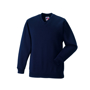 Kids V Neck Sweatshirt in navy with set in sleeves and side seams