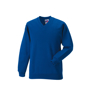 Kids V Neck Sweatshirt in blue with set in sleeves and side seams