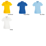 Lady Fit Premium Short Sleeve Polo with collar and 2 buttons