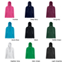 Lady-Fit Lightweight Hoodie with full covered zip, 2 pouch pockets and drawstrings