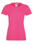 Lady-fit Softspun T in pink with crew neck