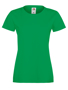 Lady-fit Softspun T in green with crew neck