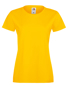 Lady-fit Softspun T in yellow with crew neck