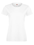 Lady-fit Softspun T in white with crew neck