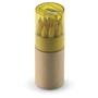 Lambut coloured pencil tube yellow lid
