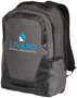 """Overland 17"""" TSA laptop backpack in charcoal with 2 colour logo"""