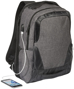 """Overland 17"""" TSA laptop backpack in charcoal showing USB port"""
