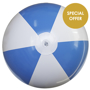 Large Beach Ball in blue and white