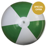 Large Beach Ball in green and white