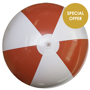 Large Beach Ball in red and white