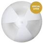 Large Beach Ball in clear and white