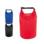 Large beach dry bag in blue, black and red