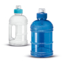 Large sports water bottle blue and clear