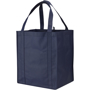 Grocery shopper bag in navy, made from polypropylene non woven material