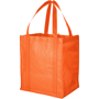Reusable shopper bag in orange with matching carry handles