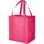 Magenta reusable shopping bag with reinforced handles
