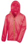 Lightweight Stowable Jacket in red with full zip in green