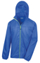 Lightweight Stowable Jacket in blue with full zip in green