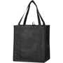 Lightweight small grocery tote bag in black with matching carry handles