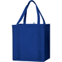 Blue shopper bag with matching carry handles