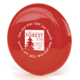 Low Cost Frisbee in red with 1 colour print