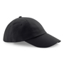 Low Profile Cap in black with seamless, centralised front panel