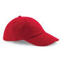 Low Profile Cap in red with seamless, centralised front panel