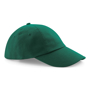 Low Profile Cap in green with seamless, centralised front panel
