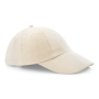 Low Profile Cap in beige with seamless, centralised front panel