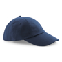 Low Profile Cap in navy with seamless, centralised front panel