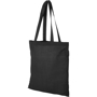 Shopping tote bag in black with matching handles