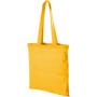 Yellow reusable shopper tote bag