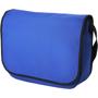 Royal blue messenger bag with black trim and handle