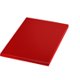 A5 match notebook in red with matching coloured page edges
