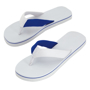 Mele Flip Flops in blue and white