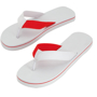 Mele Flip Flops in red and white