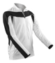 Men's Bikewear Long Sleeved Top in white with black detail and reflective piping